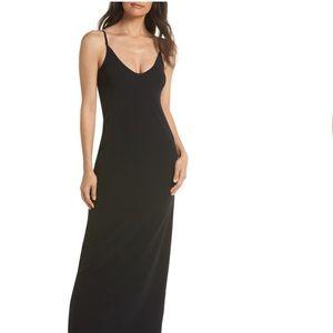 BELLA LUXX BLACK TANK MAXI DRESS SMALL JERSEY